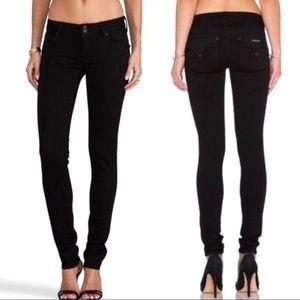 Hudson Collin Flap Black Skinny Stretch Jeans 25